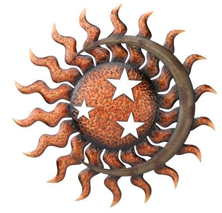 celestial sun metal wall decor d 29 - Sun Wall Decor