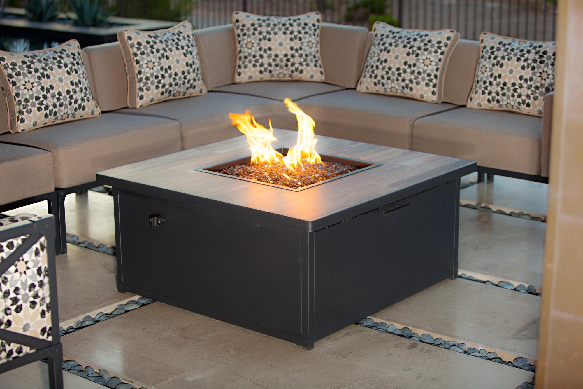 patio fireplace table. Creighton Occasional Height Fire Table W 42  L Tables Pits Mrs Patio Mr Pool and Las